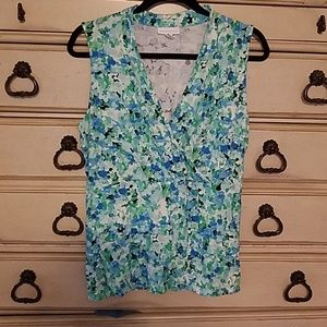 Charter Club floral tank top with wrap look